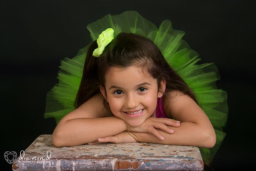 little ballerina portrait
